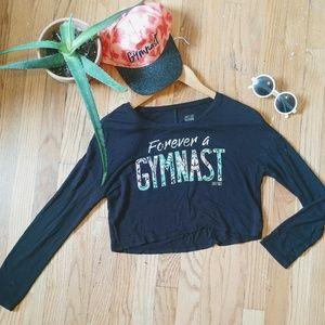 Justice gymnast crop top and hat